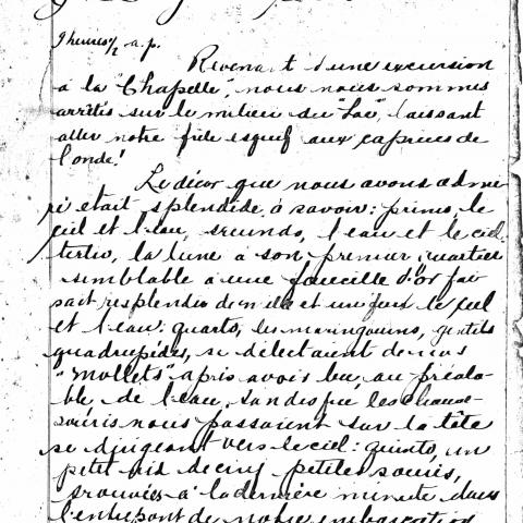 Photocopie d'un document rédigé à la plume.